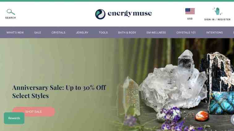 Energy Muse affiliate in the metaphysical niche