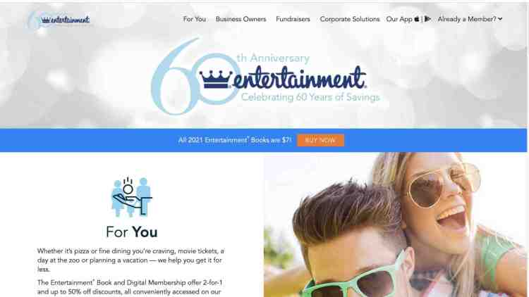 Entertainment.com coupon book affiliate program