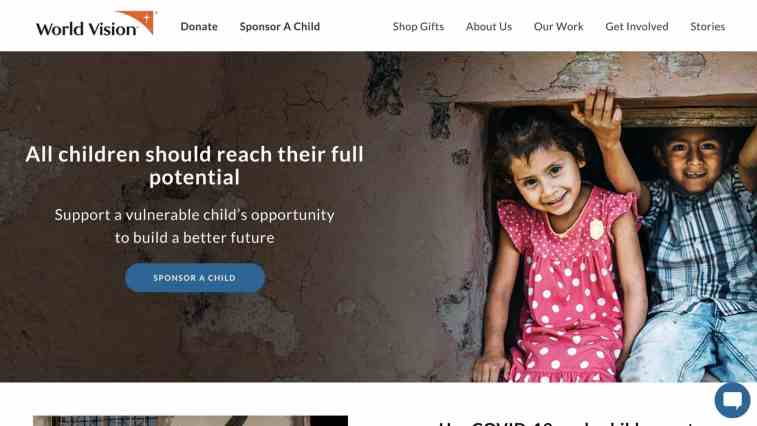 Best charity affiliate programs: World Vision Canada