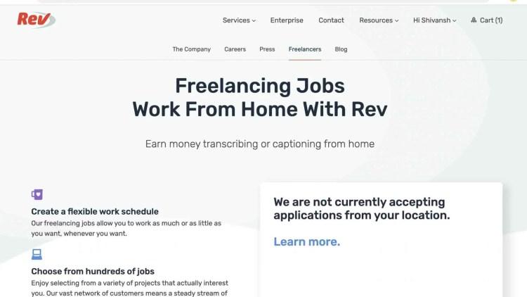 Join Rev.com as a freelancer