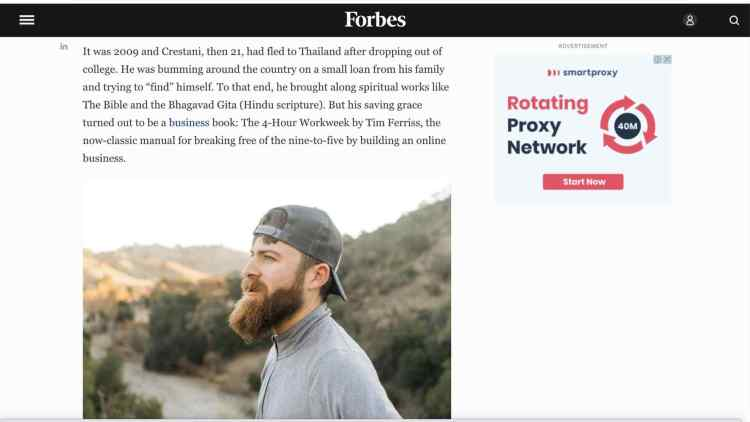 Is John Crestani Real Or Fake On Forbes