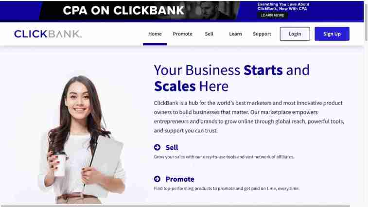 ClickBank affiliate network for instant approval