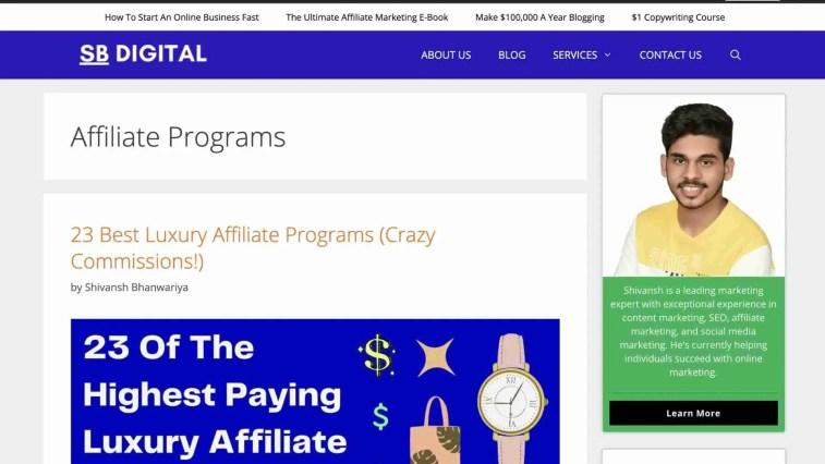 Niche affiliate program finder