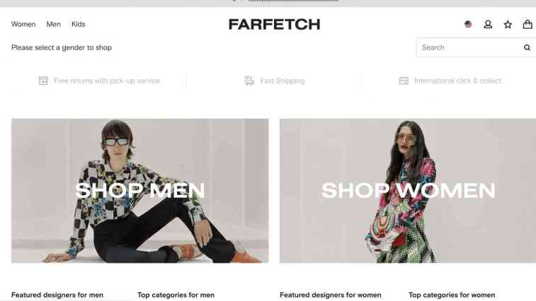 Fartetch affiliate program luxury goods