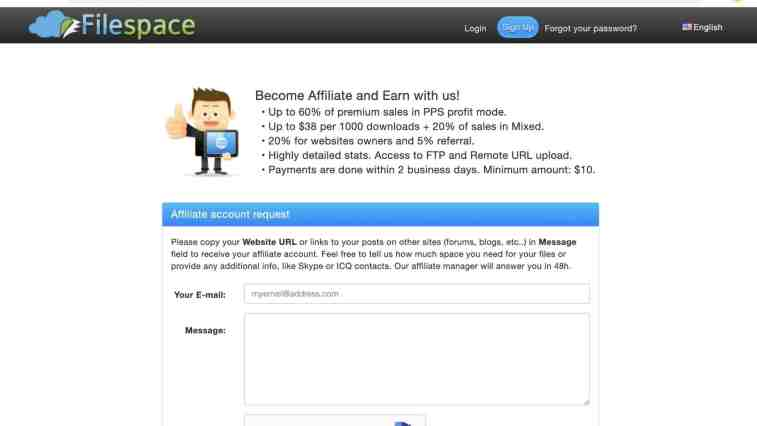FileSpace pay per download affiliate