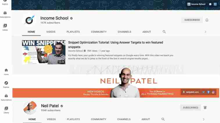 Neil patel and Jim Harmer using YT for high ticket affiliate marketing