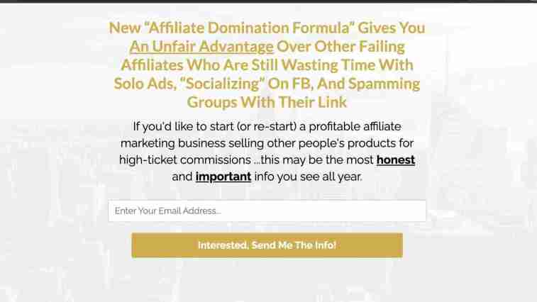 high ticket lead generation page example