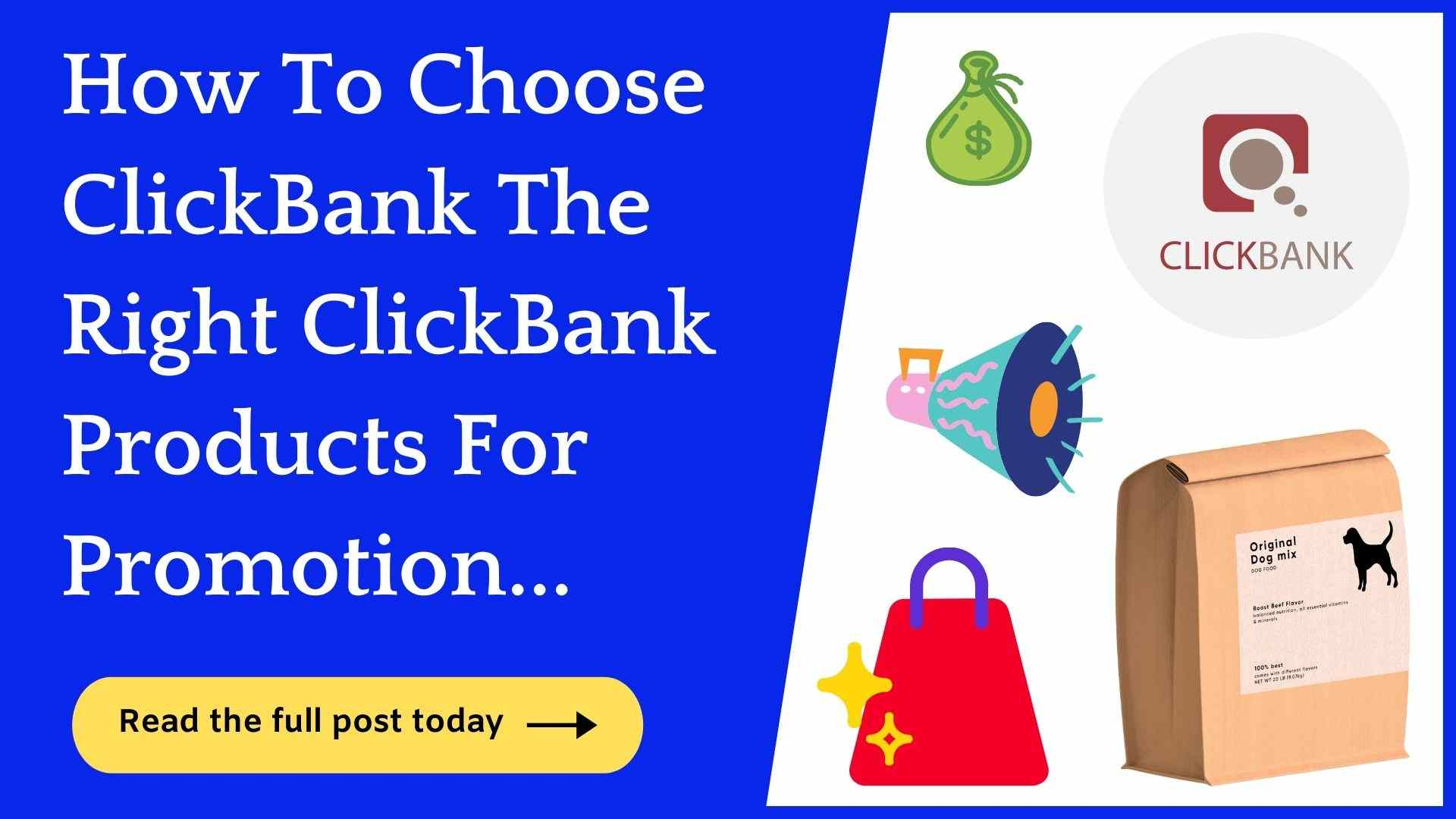 how to choose clickbank prodcuts