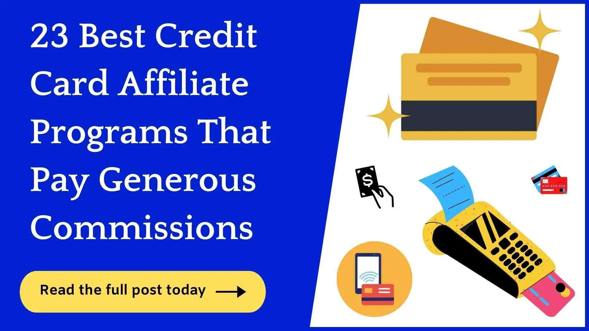 credit card affiliate programs.