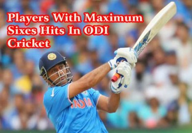 List Of Players With Maximum Sixes Hits In ODI Cricket