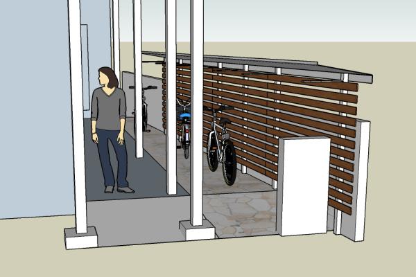 仙川賃貸アパート、ジュネス緑ヶ丘のエントランス工事計画