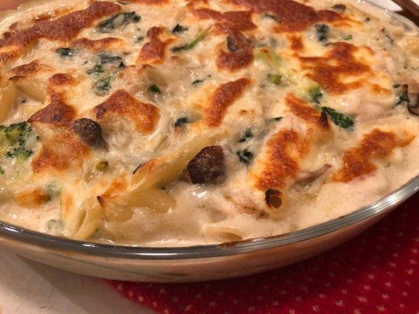 ササミを使ったドリアとグラタンを一緒にしたような料理のレシピ