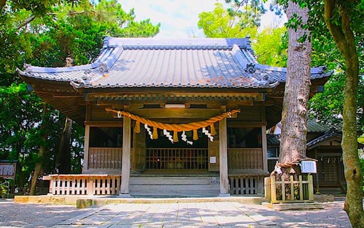 漁業者が信仰する岐佐神社の拝殿