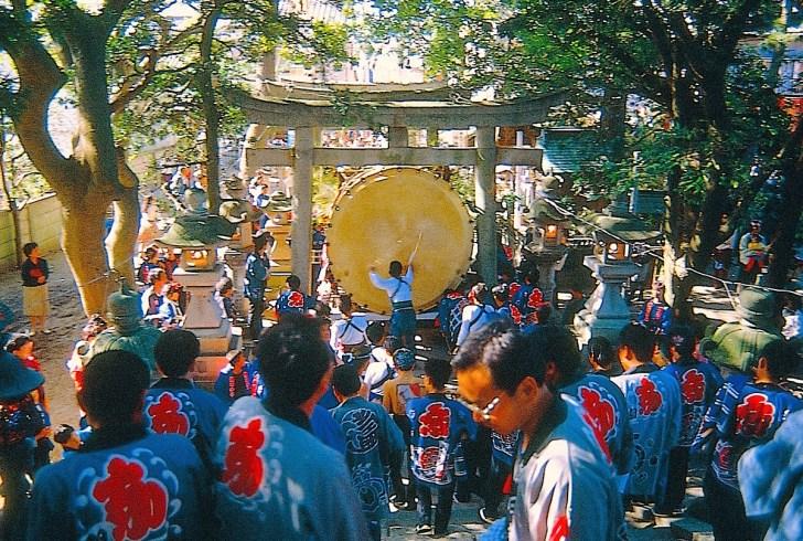 旧暦9月15日に行なわれる『舞阪太鼓まつり』