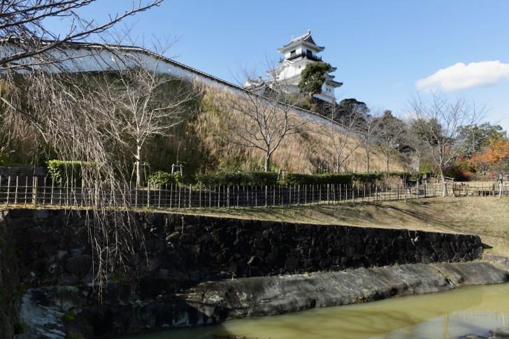 掛川城の内堀として機能した十露盤堀