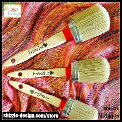 Frenchic - Oval chalk clay mineral furniture Paint Brushes best quality shizzle design 3