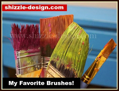 my favorite paint brushes 2 Purdy 2 inch angled brush, Frenchic oval, round wax