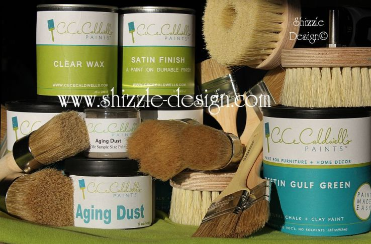 Online Shizzle Shop CeCe Caldwell's Paints wax aging dust brushes drill brush wax brush satin finish