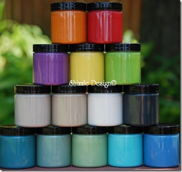 Shizzle Design, CeCe Caldwell's Sample Size Pots, Online Shizzle Shop, Chalk, Clay, colors, ideas, tips, ideas, Grand Rapids, Michigan, how to, painted furniture