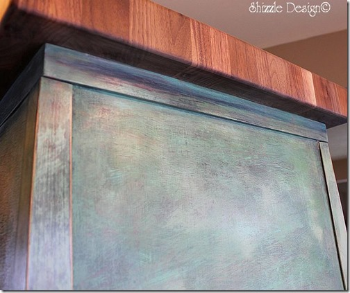 butcher block - back side Shizzle Design CeCe Caldwell's Paints dry brushed colors ideas tips workshops
