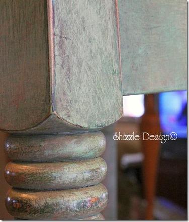 butcher block - back side leg Shizzle Design CeCe Caldwell's Paints