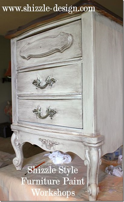 Shizzle Design Furniture Painting Workshop AFTER Byron Center, michigan CeCe Caldwell's Chalk Clay Paints ideas colors tables chair night stands tips learn how to 5 18 13 15