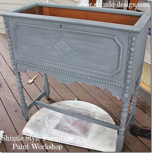 Shizzle Design Furniture Painting Workshop DURING Byron Center, michigan CeCe Caldwell's Chalk Clay Paints ideas colors tables chair night stands tips learn how to 5 18 13 10