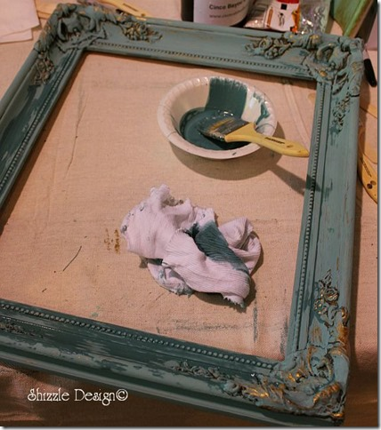ornate picture frame painted at the fundraising paint workshop shizzle design cece caldwell's chalk clay paints