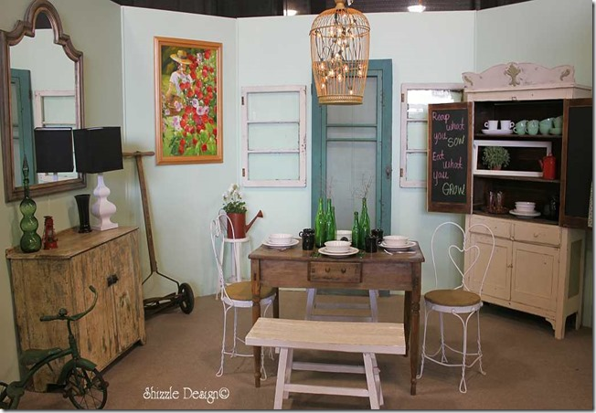 Michigan Antiques and Collectibles Festival Midland Michigan Shizzle Design painted furniture Design Competition Room 3