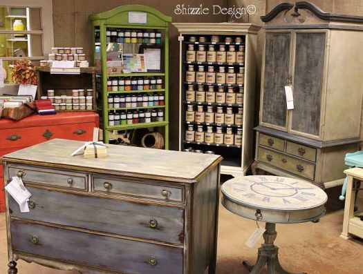 Shizzle Design booth hand painted furniture chalk clay paint ideas colors CeCe Caldwell's American Paint Company retailer holland michigan 3