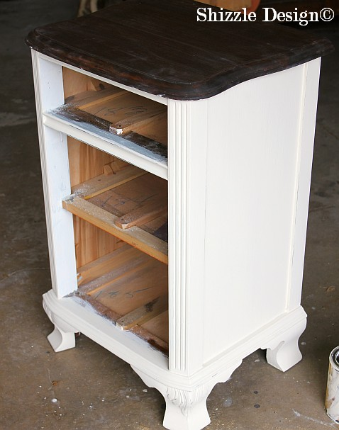 Mahogany bedroom set Shizzle Design chalk clay American Paint Company paints dresser highboy ideas vanity custom creamy white
