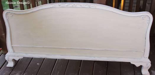 Shizzle Design Michigan #americanpaintcompany white Home Plate Dollar Bill Rushmore Heaven's Light chalk clay paint footboard details 1 shellac