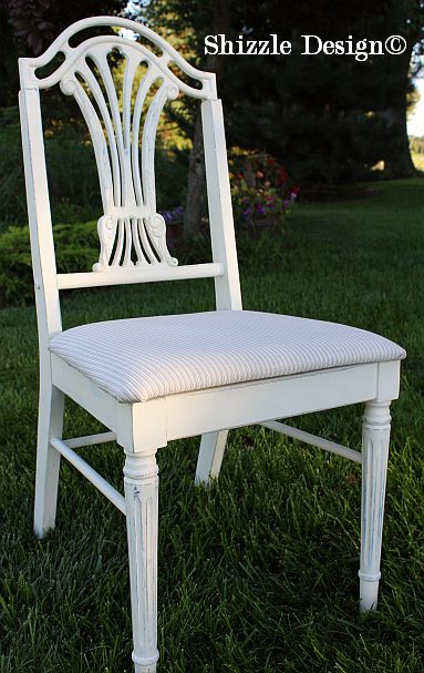 Shizzle Design painted furniture Michigan #americanpaintcompany white Home Plate Dollar Bill Rushmore Heaven's Light chalk clay paint antique desk chair