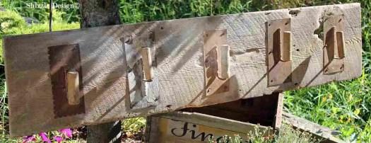 Shizzle Design re-purposed junk reclaimed barn wood hooks antique vintage hooks 2