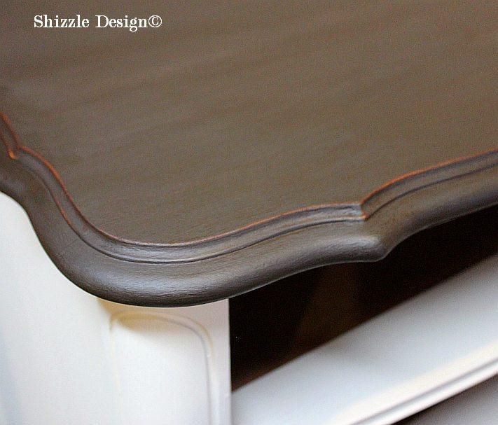 Shizzle Design Antique Double Bow Front Dresser