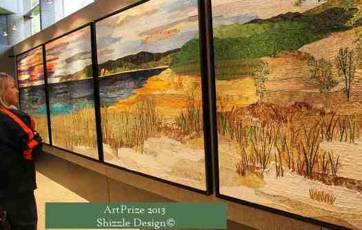 Art Prize 2013  Shizzle Design photos best pictures Grand Rapids Michigan Sleeping Bear Dunes Quilt Winner 2