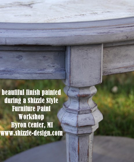October Workshops #shizzledesign furniture paint workshops chalk clay best Grand Rapids MI how to table #cececaldwells #americanpaintcompany 3 Virginia Chestnut Pittsburgh Gray
