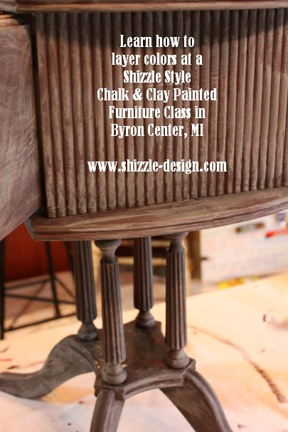 October Workshops #shizzledesign furniture paint workshops chalk clay best Grand Rapids MI how to table #cececaldwells #americanpaintcompany Pittsburgh Gray Virginia Chestnut brown humidor
