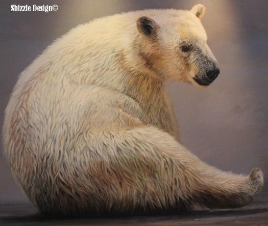 polar bear paintings at Gerald R. Ford Museum #artprize 2013 art prize shizzle design Grand Rapids Michigan 2 - Copy