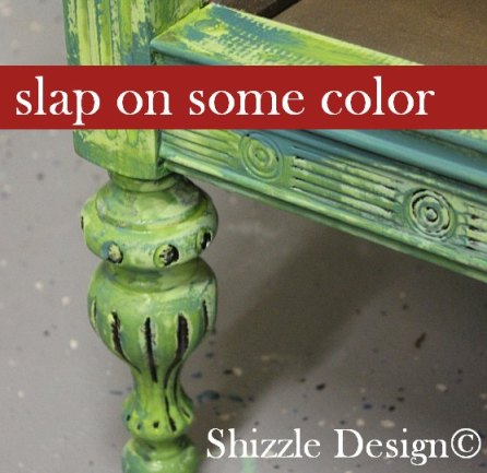 Fireworks Red Shizzle Design Paint Studio American Paint Company highboy blue green red chalk clay dresser best ideas tips layering 2