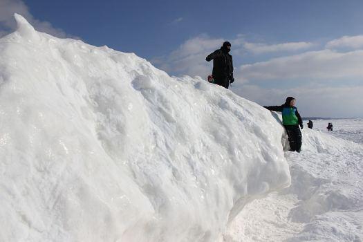1 Grand Haven Michigan State Park Lake Michigan Ice February 2014  5