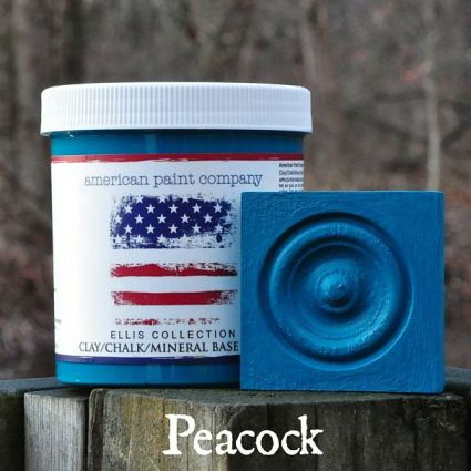 Peacock highboy dresser blue chalk clay paints American Paint Company Shizzle Design 2018 Chicago Drive Jenison MI  49428 Michigan retailer buy