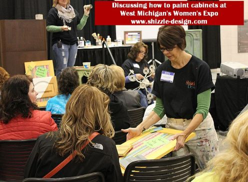 2014 West Michigan's Women's Expo Shizzle Design painted furniture American Paint company chalk clay mineral Paints 2018 Chicago Dr Jenison, MI  49428 DeVos how to paint your cabinets - Co - Copy