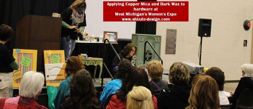 2014 West Michigan's Women's Expo Shizzle Design painted furniture American Paint company chalk clay mineral Paints 2018 Chicago Dr Jenison, MI  49428 DeVos metallic mica copper - Copy - Copy