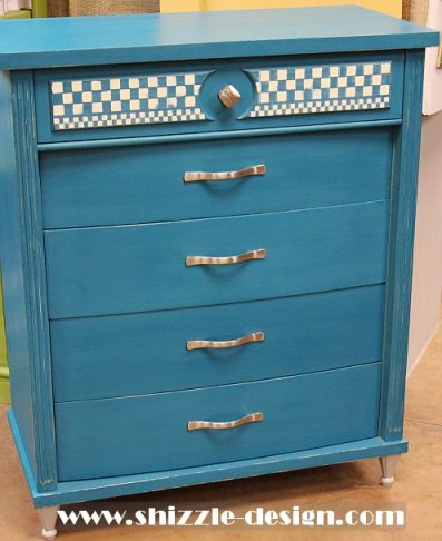 Peacock Blue Highboy Dresser Shizzle Design American Paint Company Not So Shabby Holland Michigan chalk clay paint ideas 2