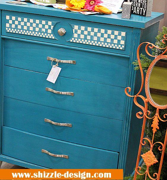 Peacock blue dresser