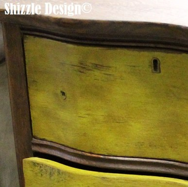 Shizzle Design American Paint Company Waistcoat olive green painted dresser ideas cool finishes dark wax michigan retailer 1