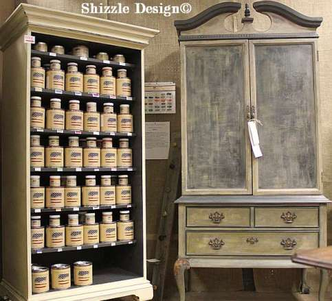Shizzle Design Retailer for American Paint Company's Paiint Not So Shabby Holland Michigan 49424 display