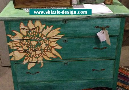 beach glass dresser with flower american paint company paints