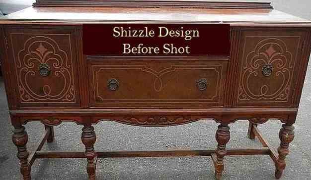 before picture blog of antique buffet painted by shizzle design - small file for channel 13 take five segment